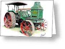 Rumely Oil Pull 2040 Greeting Card by Ferrel Cordle
