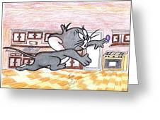 Running Little Mouse  Greeting Card by Jose humberto Arvizo orozco