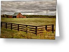 Rural Tennessee Red Barn Greeting Card by Cheryl Davis