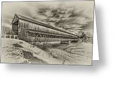 Rusagonish Covered Bridge Greeting Card by Jason Bennett