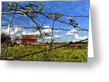 Rustic Frame Impasto Greeting Card by Steve Harrington