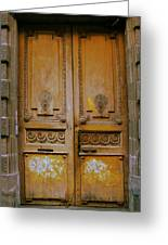 Rustic French Door Greeting Card by Georgia Fowler