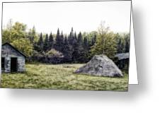 Rustic Remnants Greeting Card by Richard Bean