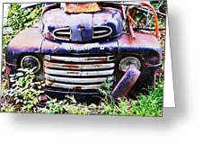 Rusty Blue Greeting Card by Jame Hayes