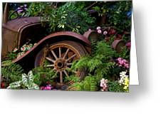Rusty Truck In The Garden Greeting Card by Garry Gay
