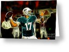 Ryan Tannehill - Miami Dolphin Quarterback Greeting Card by Paul Ward