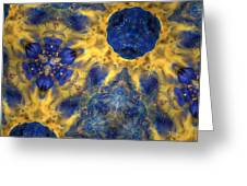 Sacred Planet Greeting Card by Denise Nickey