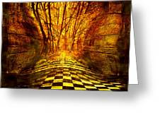 Sacred Temple of the Trees Greeting Card by Jenny Rainbow