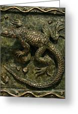Sagebrush Lizard Greeting Card by Dawn Senior-Trask