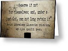 Said Abraham Lincoln Greeting Card by Cinema Photography