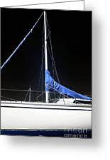 Sailboat Hull Greeting Card by John Rizzuto