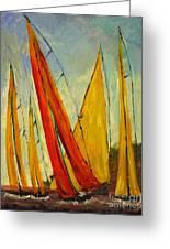Sailboat Studies 2 Greeting Card by Julie Lueders