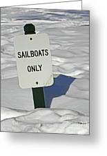 Sailboats Only Greeting Card by Elizabeth Hoskinson