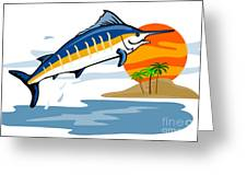 Sailfish Island Greeting Card by Aloysius Patrimonio
