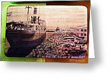 Sailing By Michael Fitzpatrick Greeting Card by Olden Mexico