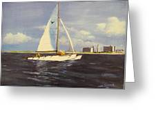 Sailing In The Netherlands Greeting Card by Jack Skinner