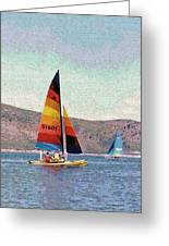 Sailing On A Utah Lake Greeting Card by Steve Ohlsen