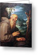 Saint Francis Greeting Card by Munir Alawi