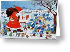 Saint Nicholas Greeting Card by Christian Kaempf