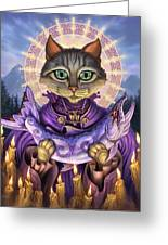 Saint Of Salmons Greeting Card by Jeff Haynie