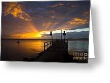 Salamander Bay Sunrise Greeting Card by Avalon Fine Art Photography