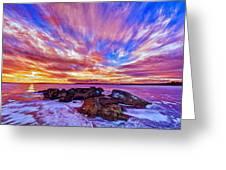 Salmon Sunrise Greeting Card by Bill Caldwell -        ABeautifulSky Photography