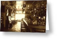 Saloon Greeting Card by Lori Seaman