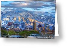 Salt Lake City Utah Usa Greeting Card by Utah Images