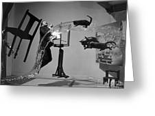 Salvador Dali 1904-1989 Greeting Card by Granger