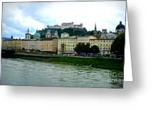 Salzburg Over The Danube Greeting Card by Carol Groenen