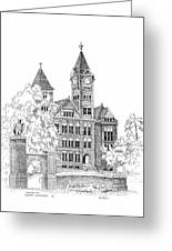 Samford Hall Greeting Card by Barney Hedrick