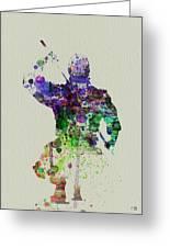 Samurai Greeting Card by Naxart Studio