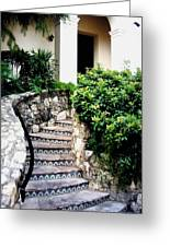 San Antonio Stairway Greeting Card by Will Borden