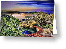 San Clemente Estate Greeting Card by Kathy Tarochione