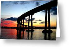 San Diego Sunset Greeting Card by Scott Brown