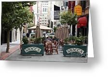 San Francisco - Maiden Lane - Outdoor Lunch At Mocca Cafe - 5d17932 Greeting Card by Wingsdomain Art and Photography