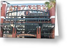 San Francisco Giants ATT Park Willie Mays Entrance . 7D7635 Greeting Card by Wingsdomain Art and Photography
