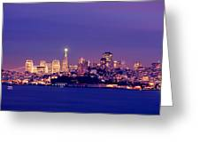 San Francisco Skyline Greeting Card by Kevin Ho