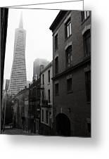 San Francisco Street Greeting Card by Eric Foltz