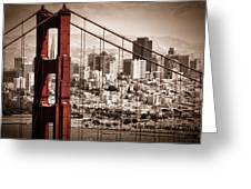 San Francisco through the Bridge Greeting Card by Matt  Trimble