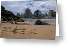 San Juan Beach Iv Greeting Card by Anna Villarreal Garbis