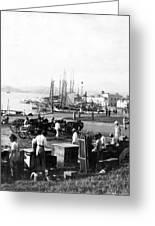 San Juan Harbor - Puerto Rico - C 1900 Greeting Card by International  Images