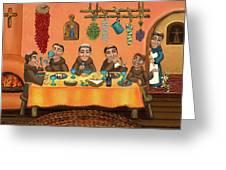 San Pascuals Table 2 Greeting Card by Victoria De Almeida