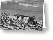 Sand Castles By The Shore Greeting Card by Rob Hans