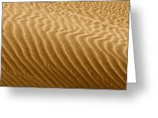 Sand Dune Mojave Desert California Greeting Card by Christine Till