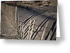 Sand Fence Greeting Card by Joel P Black