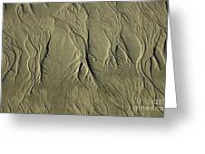 Sand Pattern Greeting Card by Marc Bittan