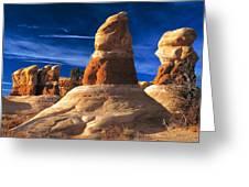 Sandstone Hoodoos In Utah Desert Greeting Card by Utah Images