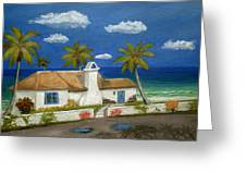 Sandy Point Greeting Card by Gordon Beck