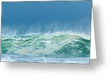 Sandy Wave Greeting Card by Michelle Wiarda